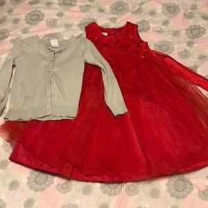 3T Red Special Occassion Dress Set